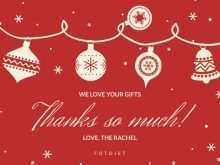 80 Format Christmas Gift Thank You Card Template PSD File with Christmas Gift Thank You Card Template