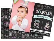 80 Free Printable 1St Birthday Card Template Psd With Stunning Design with 1St Birthday Card Template Psd