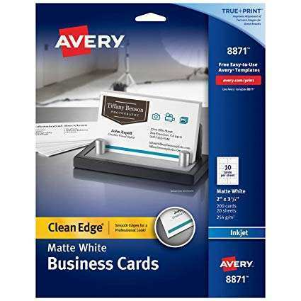 80 Free Printable Avery Business Card Template 2 X 3 5 for Ms Word by Avery Business Card Template 2 X 3 5
