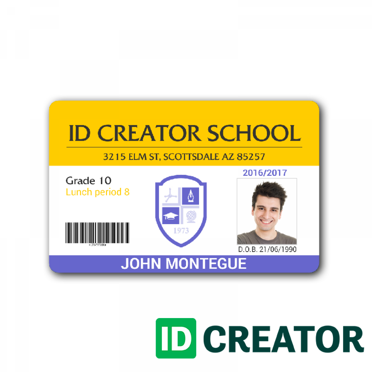 employee id card template microsoft word  cards design
