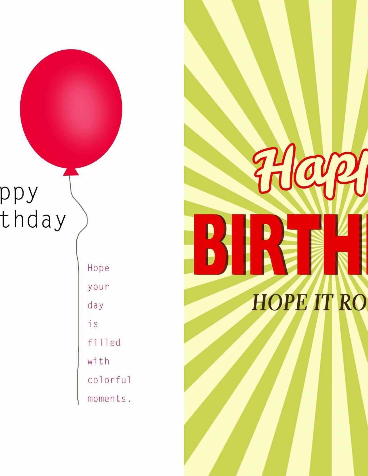 Microsoft Word Birthday Card Templates Half Fold - Cards Design Within Microsoft Word Birthday Card Template