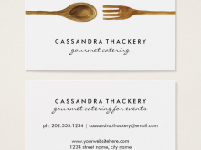80 Online Catering Name Card Template With Stunning Design by Catering Name Card Template