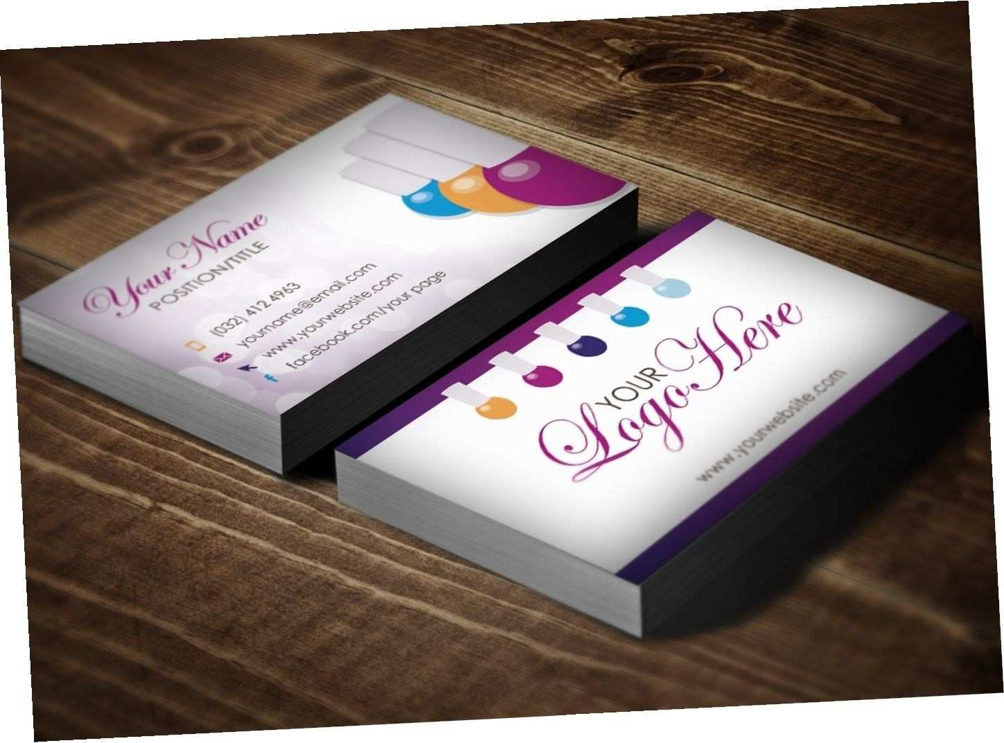 80 Online Name Card Template Nails Photo with Name Card Template Nails