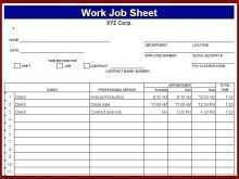 Free Job Card Template Word