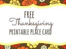 80 Printable Thanksgiving Place Card Template For Word for Ms Word for Thanksgiving Place Card Template For Word