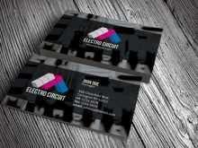 80 Standard Business Card Template Electrician PSD File with Business Card Template Electrician