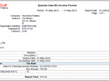 80 Standard Invoice Template Europe for Ms Word by Invoice Template Europe