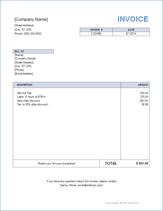 80 The Best Basic Company Invoice Template PSD File with Basic Company Invoice Template