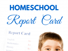 80 The Best Free Printable Homeschool Report Card Template Templates by Free Printable Homeschool Report Card Template