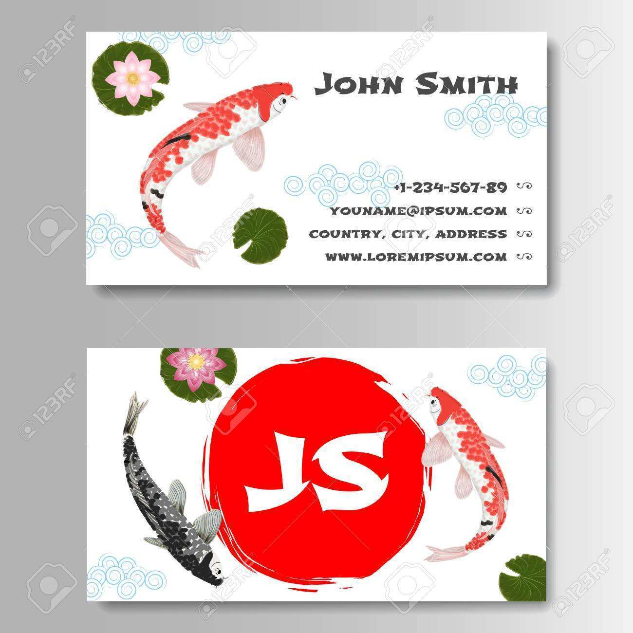 japanese business card template free  cards design templates