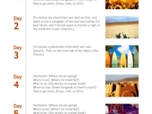 81 4 Day Travel Itinerary Template Layouts by 4 Day Travel Itinerary Template