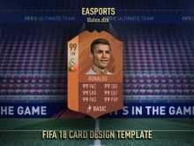 Fifa 18 Card Template Free