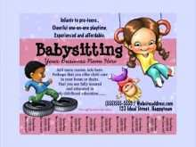 81 Babysitting Flyer Templates With Stunning Design for Babysitting Flyer Templates