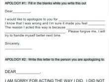 81 Blank Apology Card Template Free Maker for Apology Card Template Free