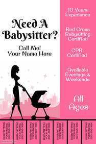 81 Create Babysitting Flyers Template With Stunning Design with Babysitting Flyers Template