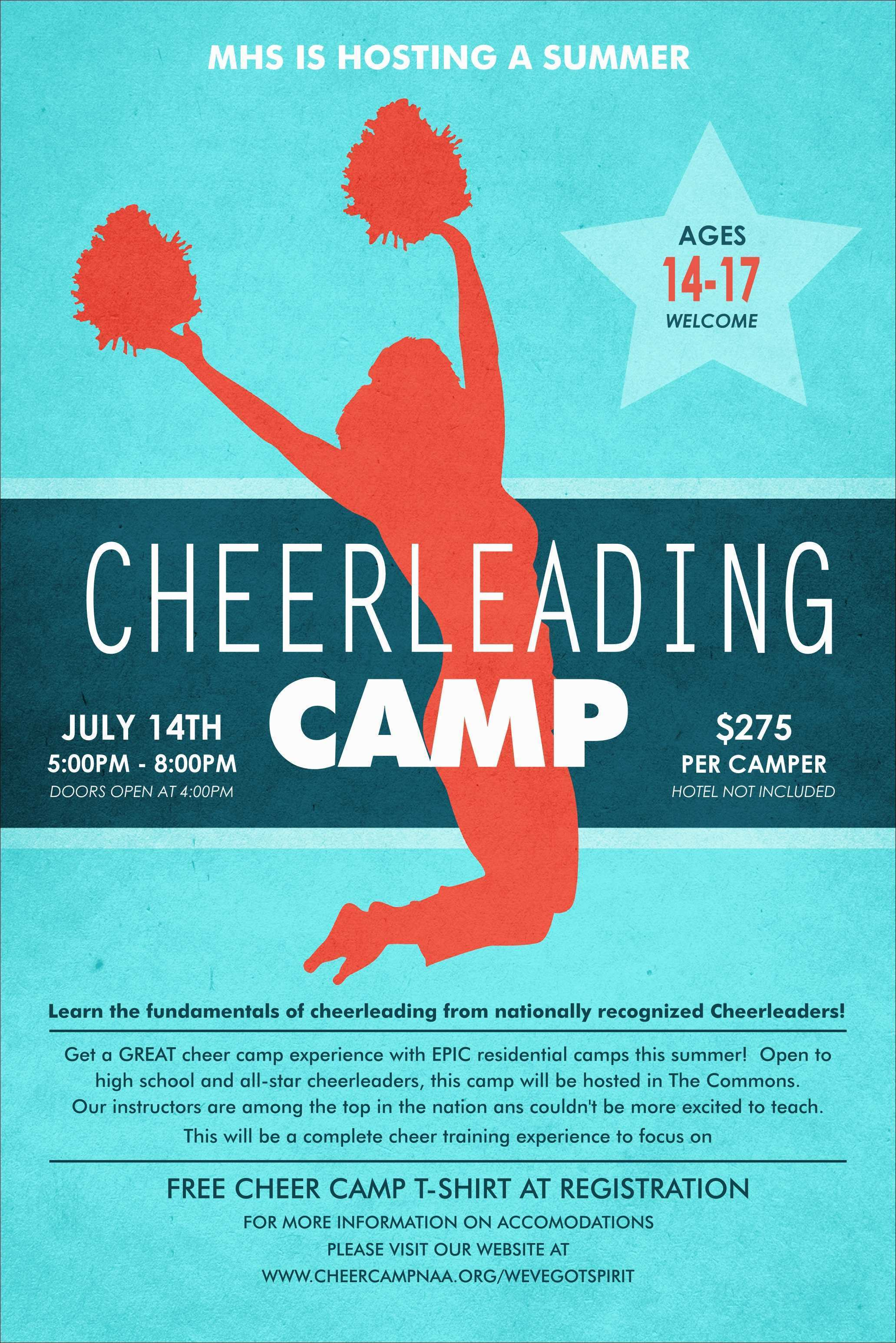 81 Creative Cheer Camp Flyer Template PSD File by Cheer Camp Flyer Template