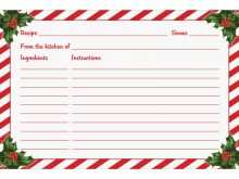 81 Creative Christmas Recipe Card Templates Templates by Christmas Recipe Card Templates