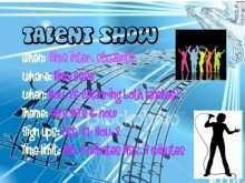 81 Format School Talent Show Flyer Template Formating by School Talent Show Flyer Template