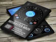 81 Free Business Card Templates Dj Free For Free with Business Card Templates Dj Free