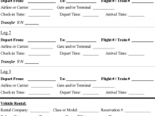 Travel Itinerary Template Calendar