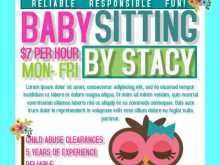 81 How To Create Babysitting Flyers Templates For Free by Babysitting Flyers Templates