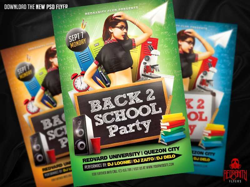 81 How To Create Back To School Party Flyer Template Free Download Layouts for Back To School Party Flyer Template Free Download