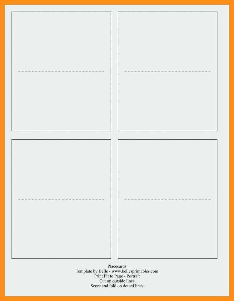blank quarter fold card template for word  cards design