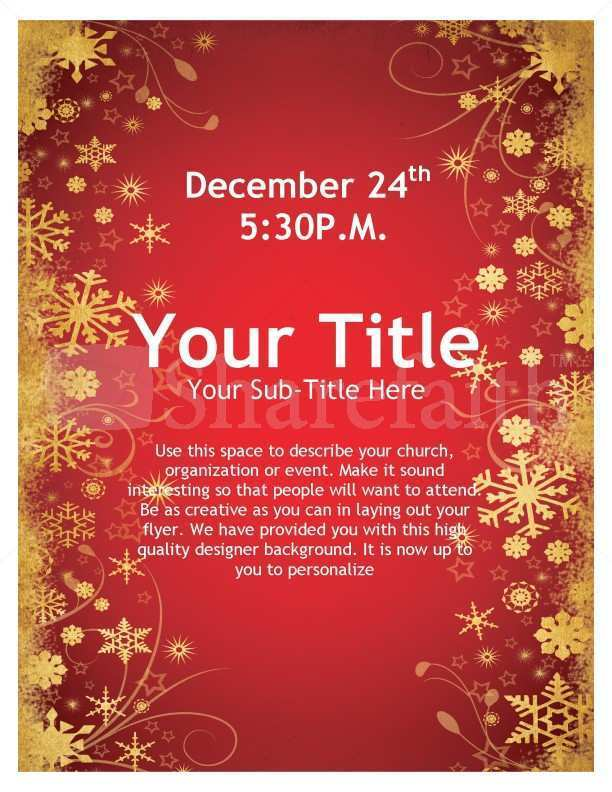 81 Online Christmas Flyer Template Word Maker with Christmas Flyer Template Word