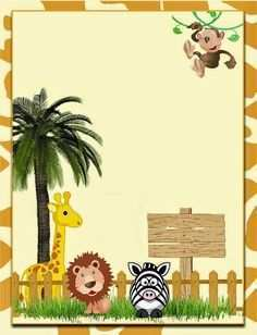 81 Printable Jungle Birthday Card Template for Ms Word by Jungle Birthday Card Template