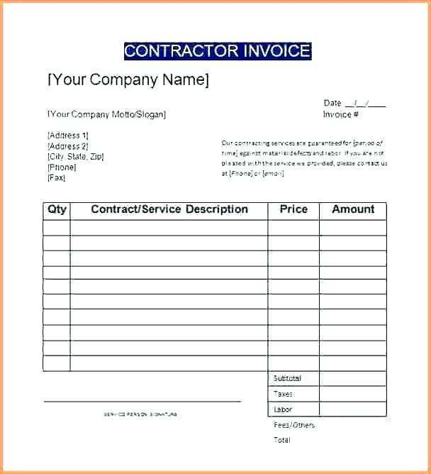 81 Printable Labor Invoice Template Excel With Stunning Design For Labor Invoice Template Excel Cards Design Templates
