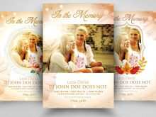 81 Report Memorial Flyer Template With Stunning Design with Memorial Flyer Template