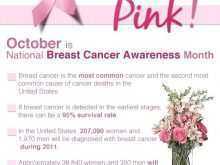81 Standard Breast Cancer Awareness Flyer Template Photo by Breast Cancer Awareness Flyer Template