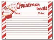 81 Standard Christmas Recipe Card Template Free Editable Maker with Christmas Recipe Card Template Free Editable