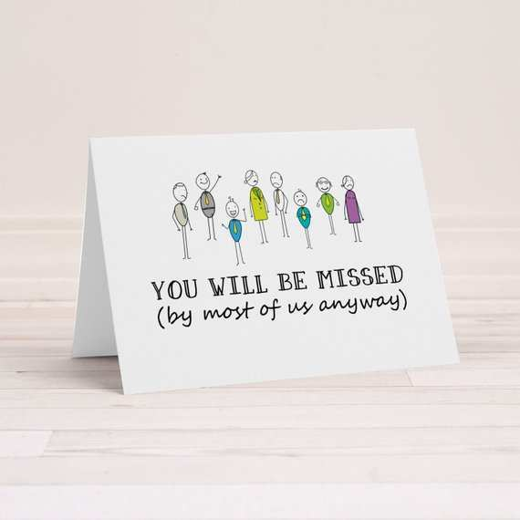 farewell card template for boss  cards design templates