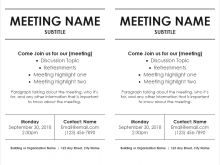 81 The Best Meeting Flyer Template With Stunning Design for Meeting Flyer Template