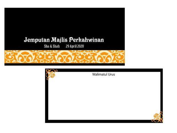 95 Adding Template Kad Kahwin In Word For Template Kad Kahwin Cards Design Templates