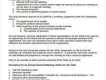 81 Visiting Template Of Agm Agenda For Free for Template Of Agm Agenda
