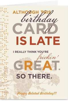 82 Best Happy Belated Birthday Card Template Templates with Happy Belated Birthday Card Template