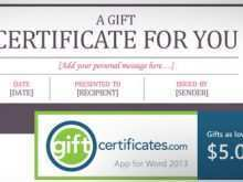 Word Templates Gift Card