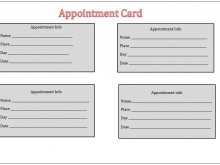 82 Creating Appointment Card Template For Word Maker for Appointment Card Template For Word