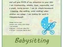 82 Creating Babysitting Flyers Templates Maker by Babysitting Flyers Templates