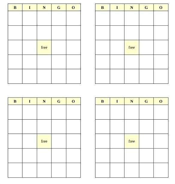 82 Creating Bingo Card Template In Word Now for Bingo Card Template In Word