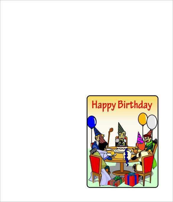 82 Free Birthday Card Templates Pdf With Stunning Design by Birthday Card Templates Pdf
