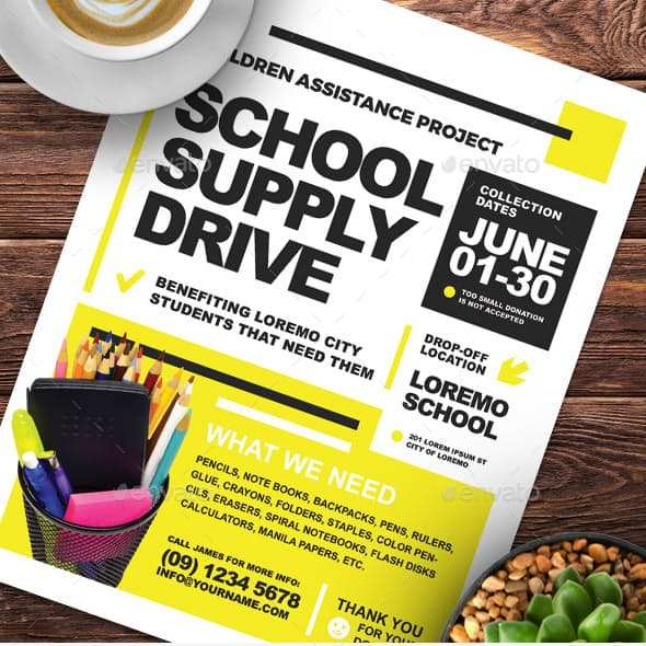 82 How To Create Back To School Drive Flyer Template Maker for Back To School Drive Flyer Template