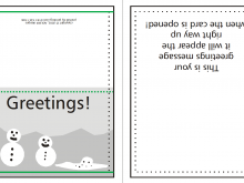 Christmas Card Template A5