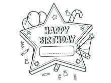 82 Online Happy Birthday Card Template To Color Templates by Happy Birthday Card Template To Color