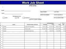 82 Printable Job Card Template Mechanic for Job Card Template Mechanic