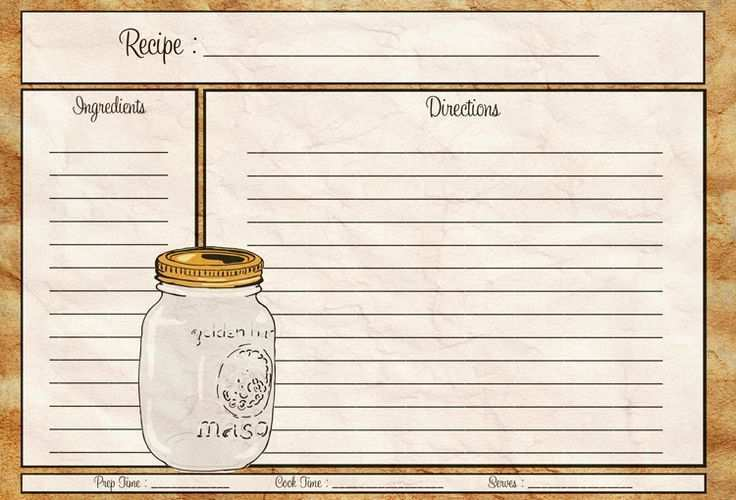 Recipe Card 4X6 Template Free Download - Cards Design ...
