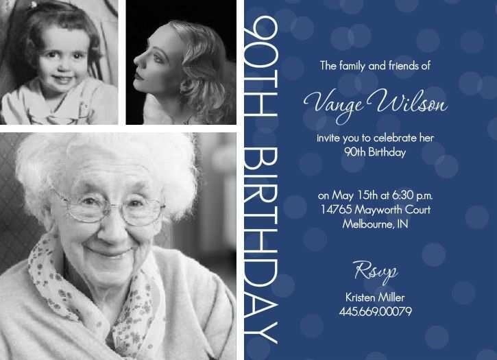 82 The Best 90Th Birthday Card Template Layouts by 90Th Birthday Card Template