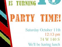 83 Birthday Invitation Card Template Pdf Formating with Birthday Invitation Card Template Pdf